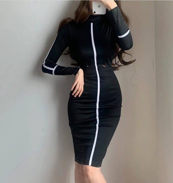 Small high necked long sleeved